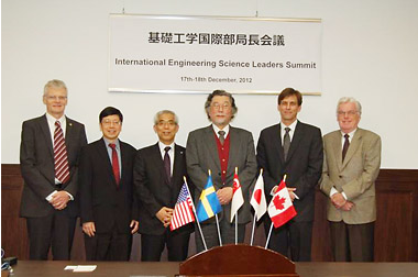 Picture 6. Prof. Higashijima with Engineering Science Leaders.